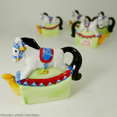 Red Rose Tea (Canada) Miniature Teapot - 1996/99 -Set 3 Toy Chest- Rocking Horse