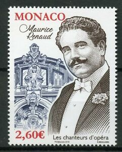 Monaco-2019-MNH-Maurice-Renaud-Opera-Singers-1v-Set-Music-Famous-People-Stamps