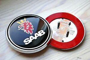 Negro-Saab-68mm-Bonnet-Insignia-Emblema-Frontal-de-3-Pines-93-95-9-3-9-5-2003-2010-12844161