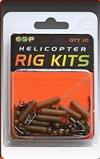 ESP CARP FISHING HELICOPTER RIG KIT CAMO BROWN - 10 PER PACK