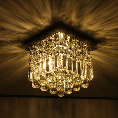 3-Light Chandelier Style Modern Ceiling Light Shade Droplet Pendant Crystal Bead