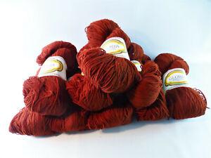 Wolle dunkelrot 9 x ca. 100 g, 100 % Polyacryl