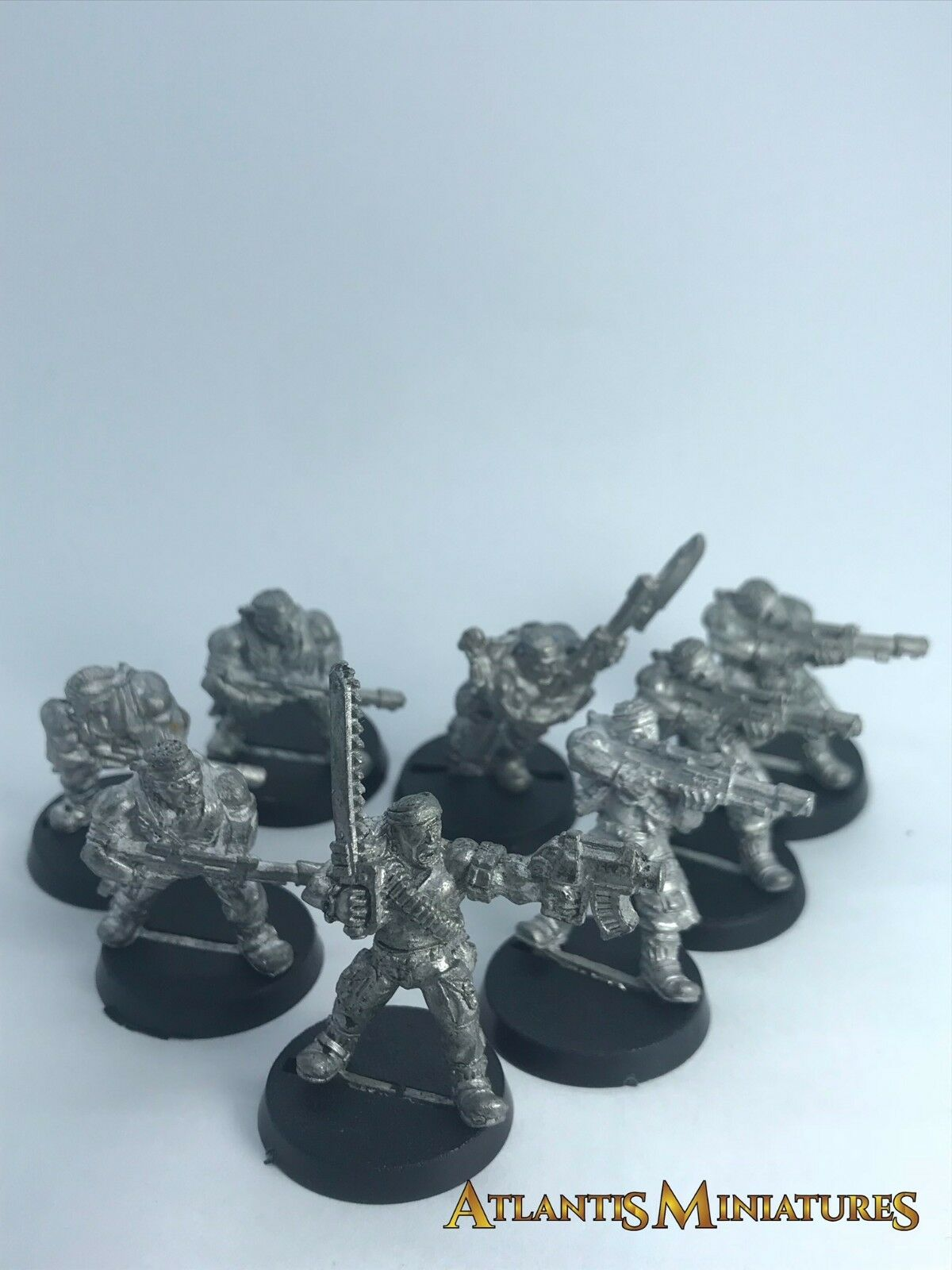 Metal Imperial Guard X8 Catchan Section - Rare - OOP - Warhammer 40K C132
