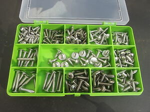 Box-of-240-Assorted-Flange-Pozi-Pan-Self-Tapping-Screws-A2-70-Stainless-Steel