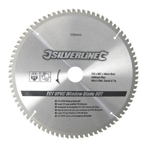 250 mm Lame de scie circulaire 30 mm alésage 80 dents en alliage d/'aluminium bois Négatif Râteau