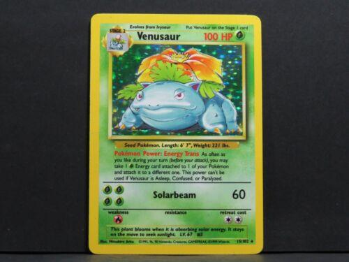 Played Venusaur 15//102 #1 Holo Base Set Pokemon Card
