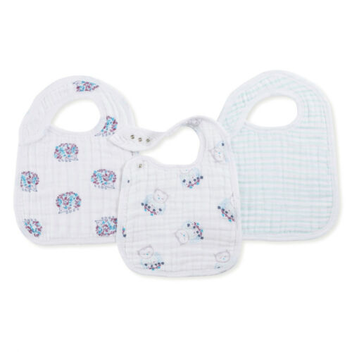 Thistle Aden and Anais Snap Bib 3 Pack