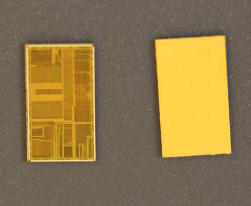 Wafer was diced but dies were never packaged. Vintage Intel 80486DX2 CPU die