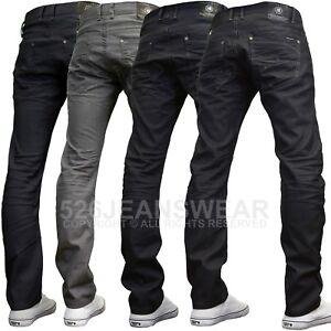 Crosshatch-Men-039-s-Designer-Branded-Slim-Fit-Straight-Leg-Jeans-BNWT
