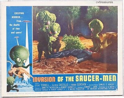 Invasion Of The Saucer Men Sci-Fi Film Vintage Cinema Movie Poster Print Picture