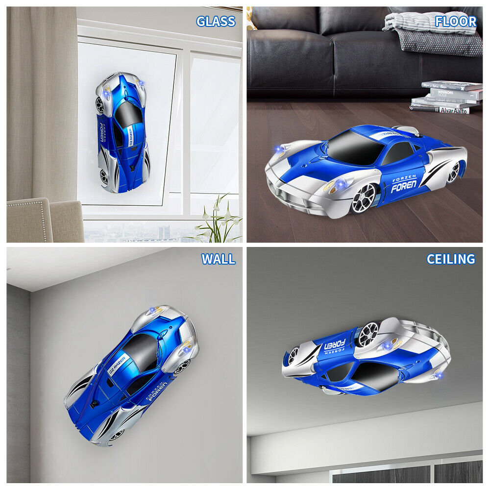 Remote control transforming LED dinosaur car toy gift for kids