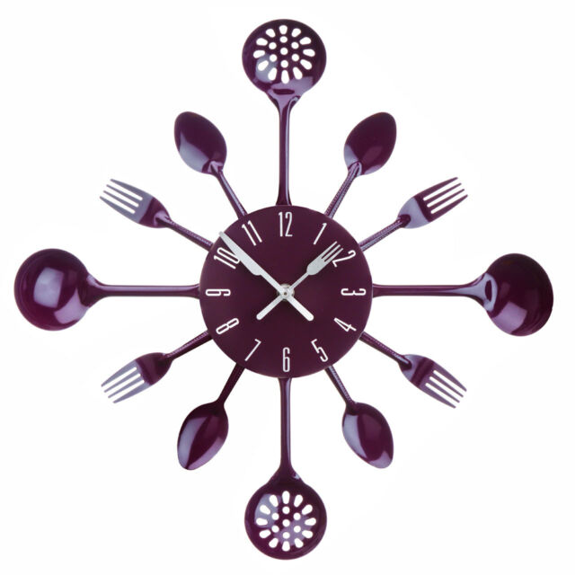 Purple Kitchen Storage Tea, Coffee,Sugar ,Cutlery Set, Clock And Accessories