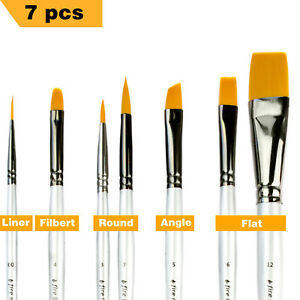 Details About Art Paint Brushes For Acrylic Painting Watercolor Oil Body Face Paint Brushes