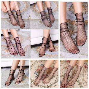 Fashion-Ultrathin-Women-Lady-Fishnet-Mesh-Lace-Socks-Silky-Short-Ankle-Stockings