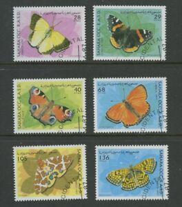 Papillons-Ensemble-De-6-Timbres-Cto-1997-Western-Sahara