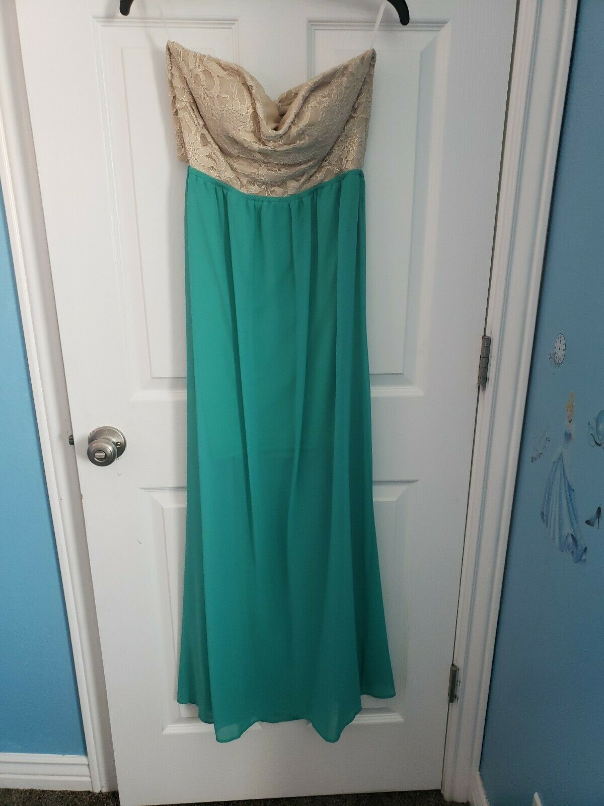 New Jump Apparel Long Dress Evening Prom color Jade Style 46886
