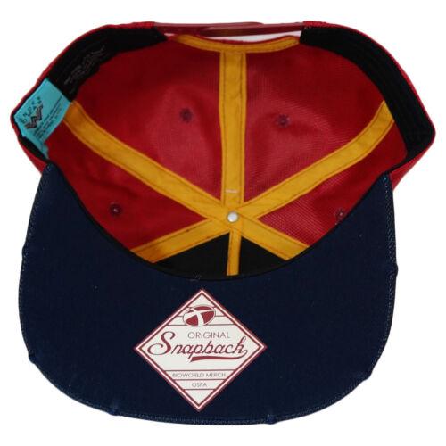 DC Comics Wonder Woman Chrome Weld Logo Ballistic Nylon Snapback Cap Hat New