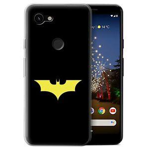 Gel-TPU-Case-for-Google-Pixel-3a-XL-Minimalist-Movie-Art-Bat-Signal-Inspired