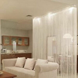 Decor-White-String-Curtains-Patio-Net-Fringe-Door-Fly-Screen-Windows-Divider