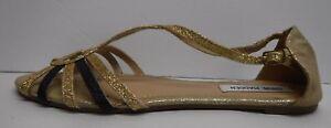 Steve-Madden-Size-7-Gold-Glitter-Flats-New-Womens-Shoes