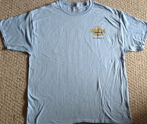 Hard-Rock-Hotel-HOLLYWOOD-FL-Blue-Tee-T-Shirt-Mens-LARGE-LG-HRH-Logo-BRAND-NEW