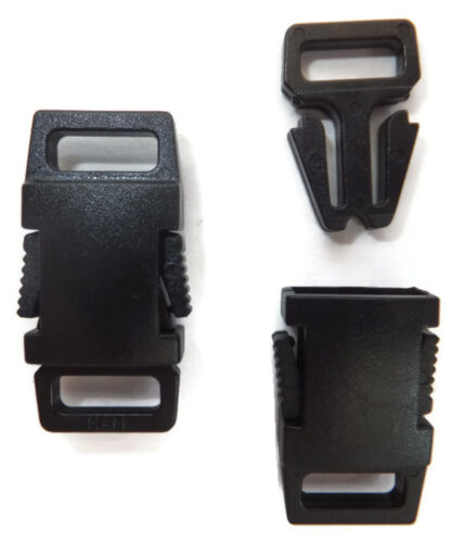 9mm Side Release Buckle Clip Fastener for 9mm Webbing pk of 5,10,15 or 20 J2A