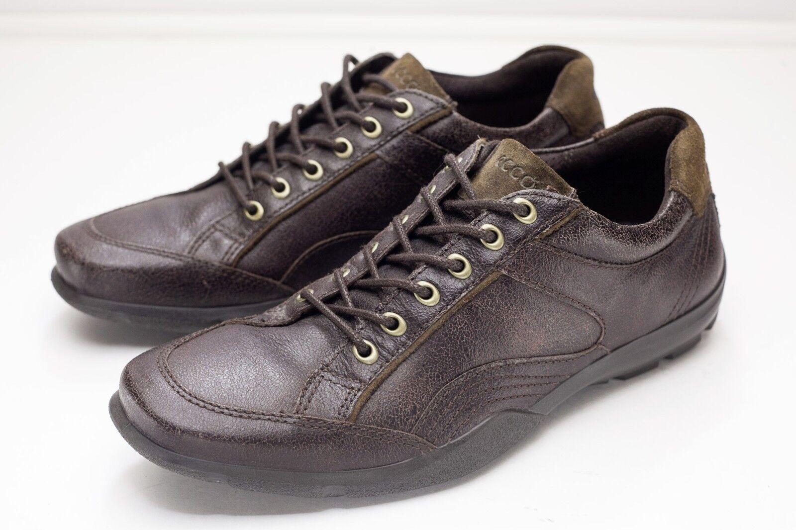 Ecco 9 9.5 Brown Oxford Casual Men's