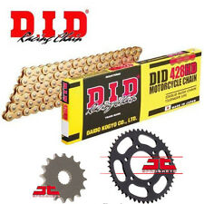 Yamaha YZF-R125 2008 - 2018 DID Gold Heavy Duty Chain and Sprocket Kit Set