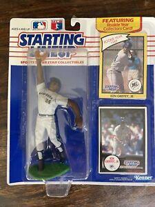 1990 ROOKIE Kenner SLU MLB KEN GRIFFEY JR Fielding w/ Dome NM/M & Sliding Figure