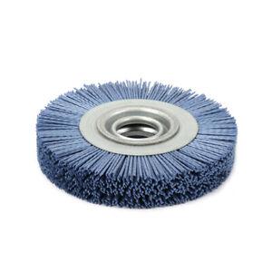 "6"" 8"" Abrasive Nylon Wire Wheel Polishing Brush Bench Grinder For Wood Metal 80#"