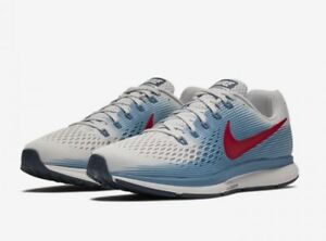 5 Running 44 Pegasus Blue Grey Air Eu Nike Uk 5 9 34 Red Zoom Tz6fv