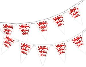 Happy-St-George-Day-English-Three-Lions-National-Bunting-Banner-15-flags