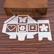 9pcs Candy Gift Box Metal Cutting Dies Stencil DIY Scrapbooking Card Embossing