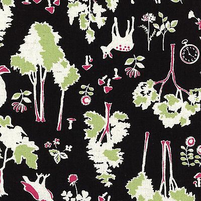 By 1//2 Yard Kokka Canvas Fabric ~ Alice Dreams in Natural ~ Alice In Wonderland