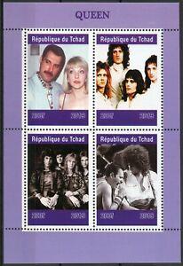 Mon ChéRi Tchad 2019 Neuf Sans Charnière Queen Freddie Mercury 4 V M/s Music Célébrités Timbres-afficher Le Titre D'origine