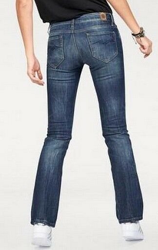 REPLAY Ramean Stiefelcut Fit Jeans NEU Blau Damen Hose Stretch Denim W27-L32 L32