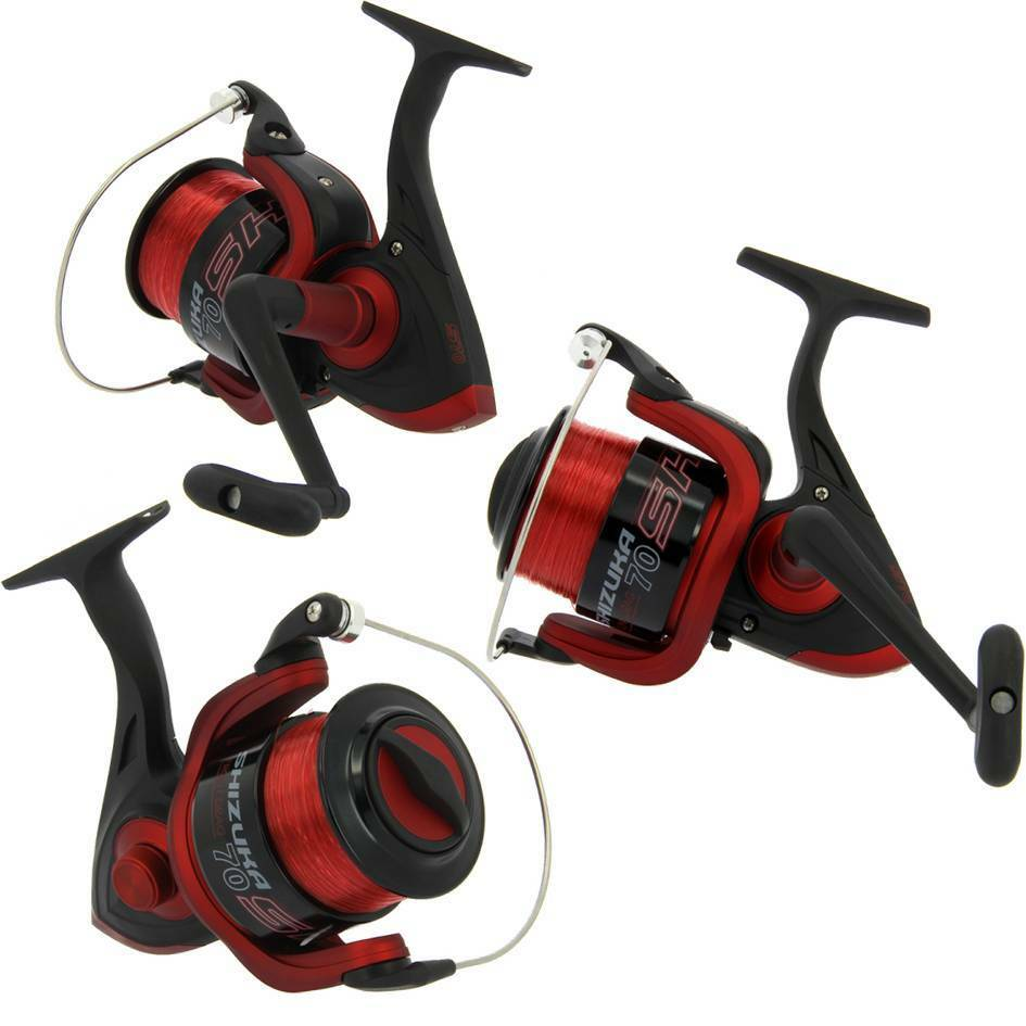 3 LARGE LINEAEFFE Shizuka SK5 70 Aluminium SEA FISHING SALTWATER REELS AND LINE