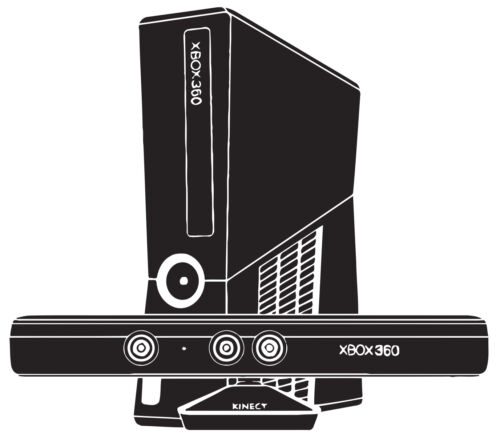 Xbox 360 Console Kinect Game Children/'s Bedroom Decal Wall Art Sticker Picture