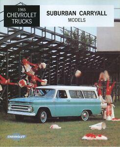 1965 Chevrolet Suburban Carryall Sales Brochure Ebay