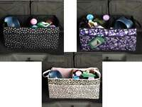 Cargo Pet Dog Foldable Organizer - Leopard Pink - Cruising Companion - 23x12x12
