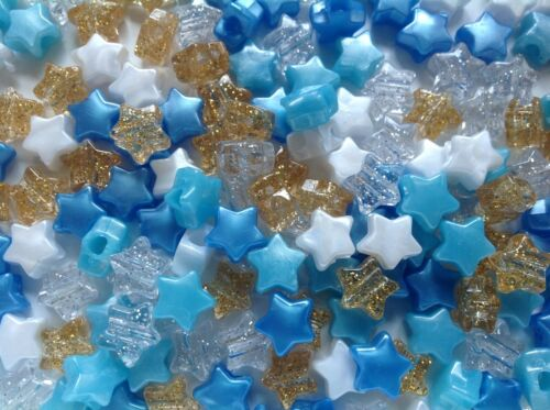USA Made Star Shaped Little Prince Pony Bead Mix Choose your pack size