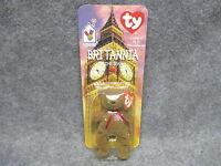 1999 Mcdonald's Ty Teenie Beanie Baby Britannia The Bear In Blister Pack