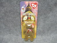 1999 Mcdonald's Ty Teenie Beanie Baby Britannia The Bear In Blister Pack
