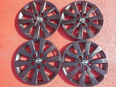 Nissan Sentra Hubcaps Wheel Covers 13 14 2015 2016 16 Black Factory Caps 53089 Ebay
