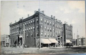Streator-IL-1908-Rotograph-Postcard-Plumb-House-Illinois-Ill