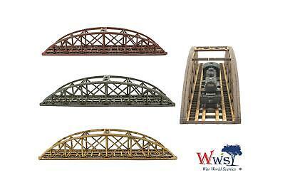 Spur 00//H0 MDF Modellbahn Modellbau WWS Zweispurige Rote Stabbogenbrücke 400mm