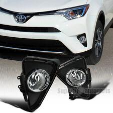 2016-2017 Toyota RAV4 Clear Lens Front Fog Bumper Lights w/ Bulbs+Switch