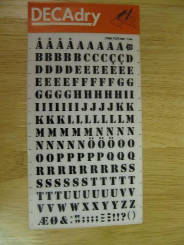 24 PT 0.276 pulgadas 7 Mm 1 X DECAdry manchas en la transferencia de letras negras nº 29