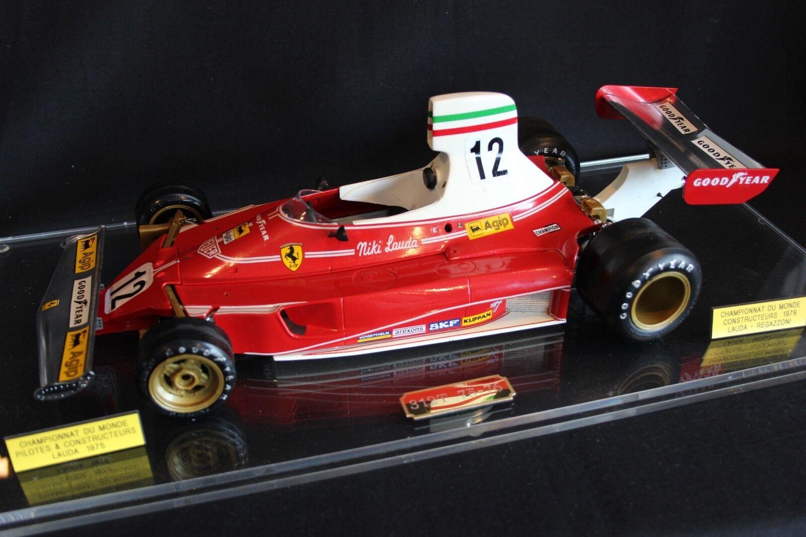 Tamiya built kit Ferrari 312T 1975 - 1976 1 12  12 Niki Lauda (AUT) in vitrine