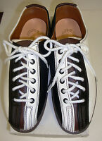 Women's Girls Rental Bowling Shoes Size 5 1/ 2 White Black Brown Leather -new